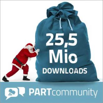 Una buena sorpresa para PARTcommunity: un nuevo record de descarga de más de 25.5 millones