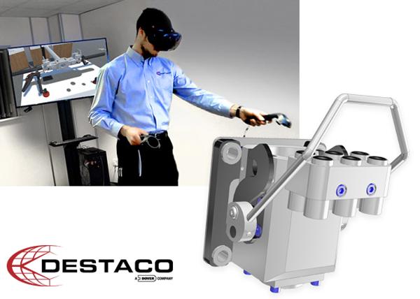 DESTACO utilise la réalité virtuelle pour concevoir et simuler les projets avant leur production