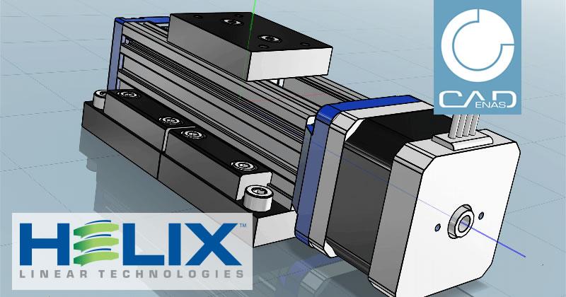 Les modèles CAO 3D de Helix Linear Technologies sont en ligne avec un catalogue de produits interactif créé par CADENAS