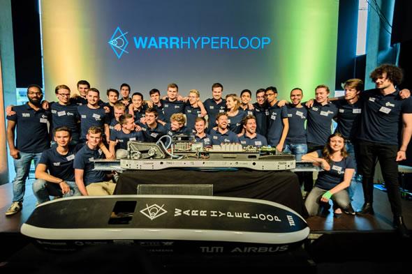 L'équipe WARR Hyperloop accède à la phase II du challenge, propulsée par PARTsolutions de CADENAS