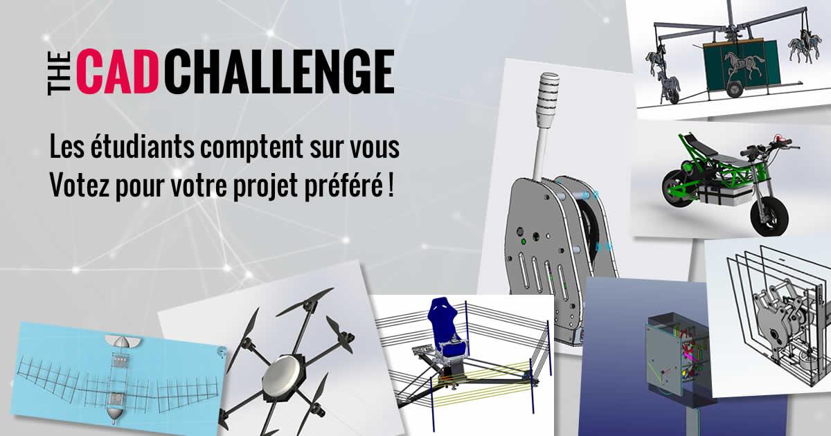 The CAD Challenge : votez pour la meilleure conception 3D !