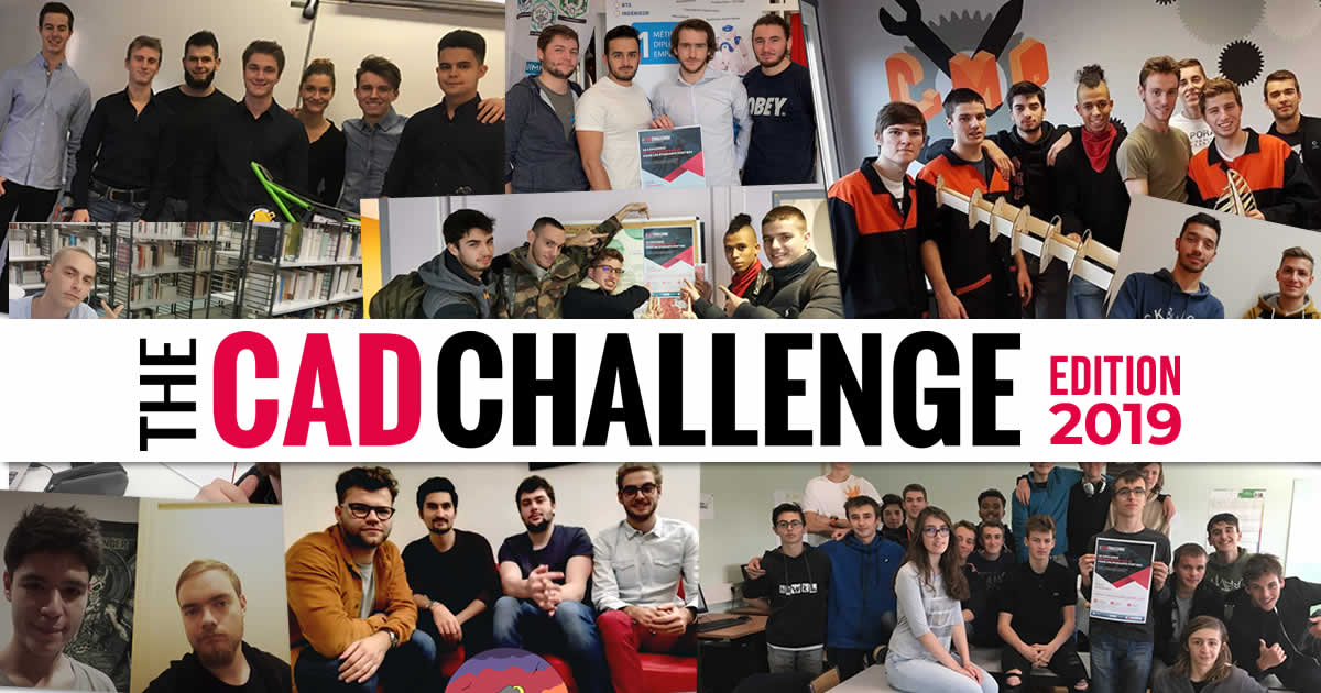 CAD Challenge 2019 - photos des participants
