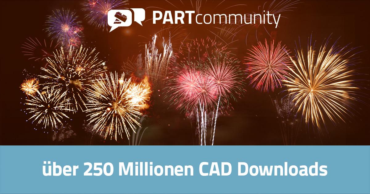 260 Millionen 3D CAD Modelle Downloads von PARTcommunity