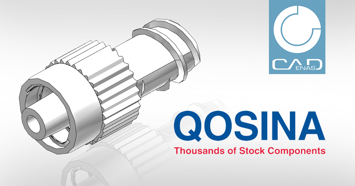Qosina extends its Online-Service with 3D CAD models by CADENAS