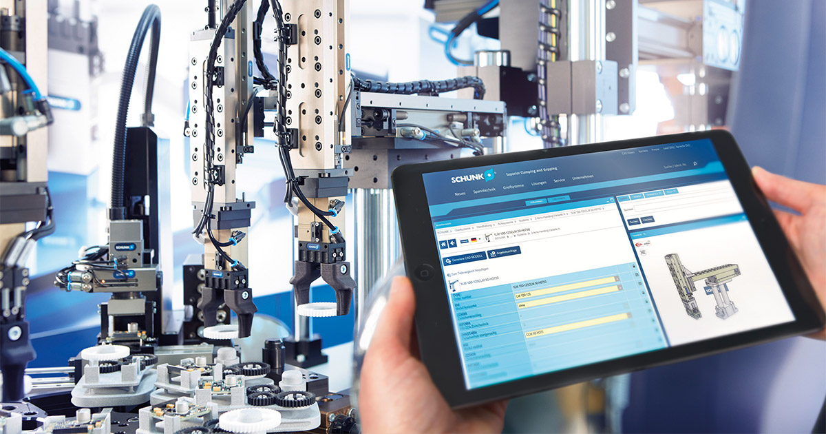 SCHUNK rapidly expands its range of digital tools based on eCATALOGsolutions technology from CADENAS