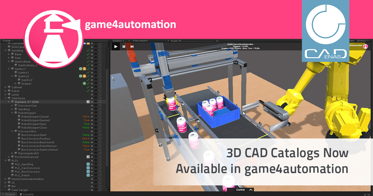 3D CAD Catalogs Now Available in game4automation
