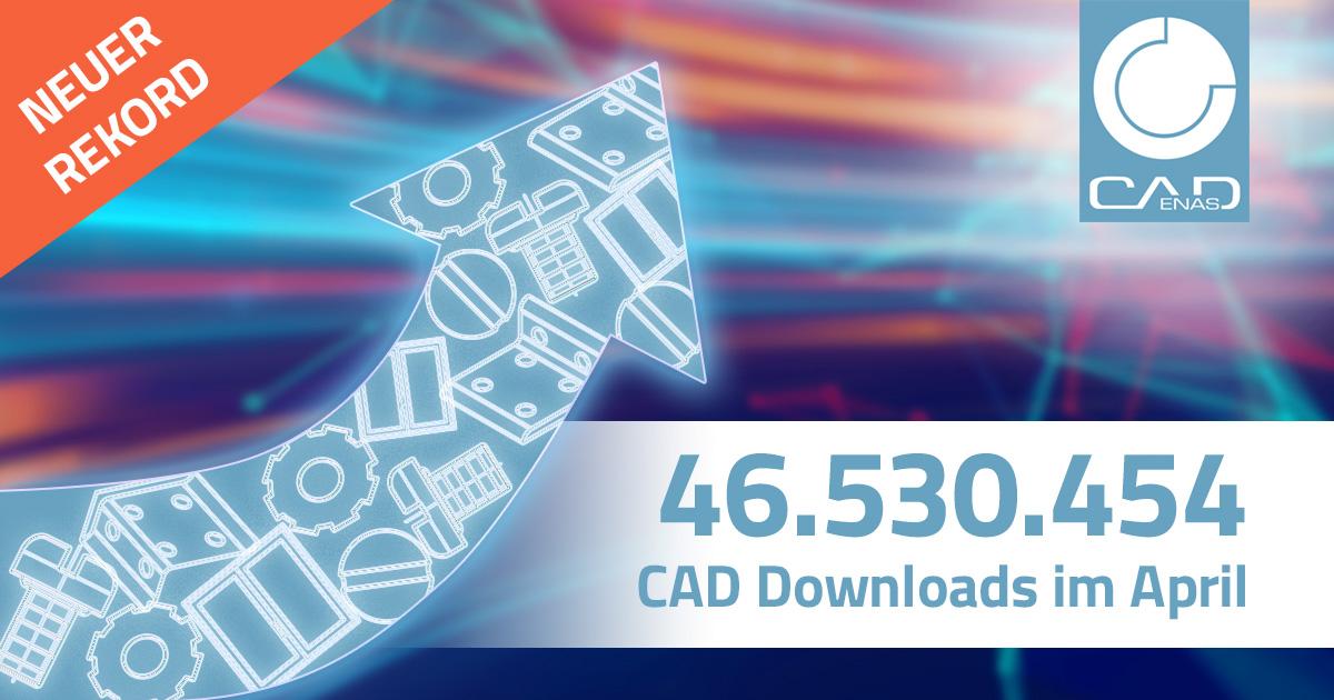 Ein Rekord jagt den nächsten: Über 46 Millionen CAD Downloads (= Sales Kontakte) im April setzen klares Zeichen für große Bedeutung der Digitalisierung