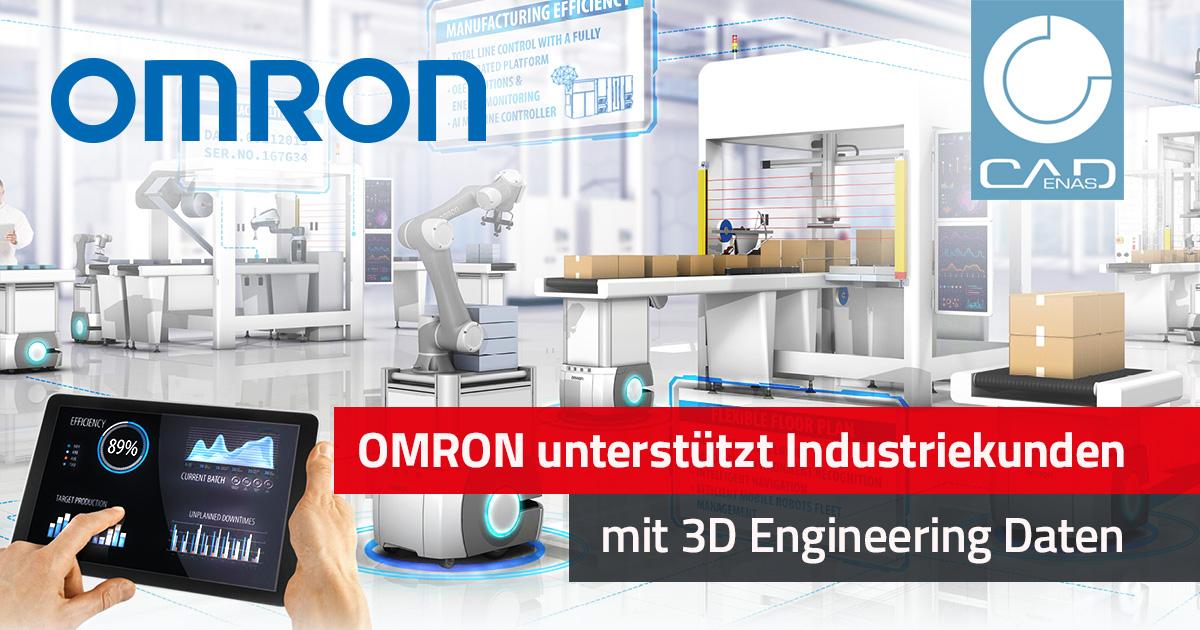 OMRON unterstützt Industriekunden mit 3D Engineering Daten