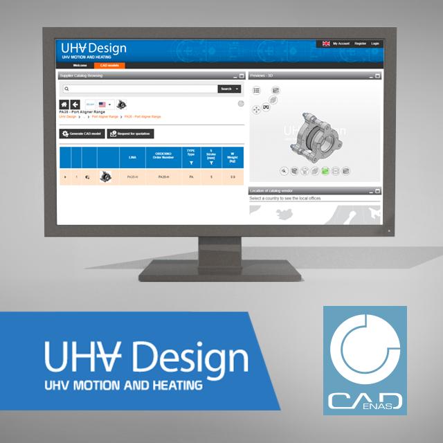 Mit dem Elektronischen Produktkatalog können Komponenten in über 100 nativen CAD Formaten auf der UHV Design Webseite konfiguriert und heruntergeladen werden