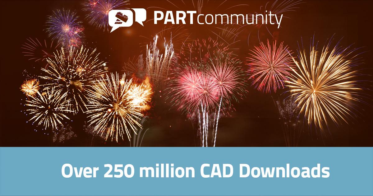 260 million 3D CAD model downloads for PARTcommunity