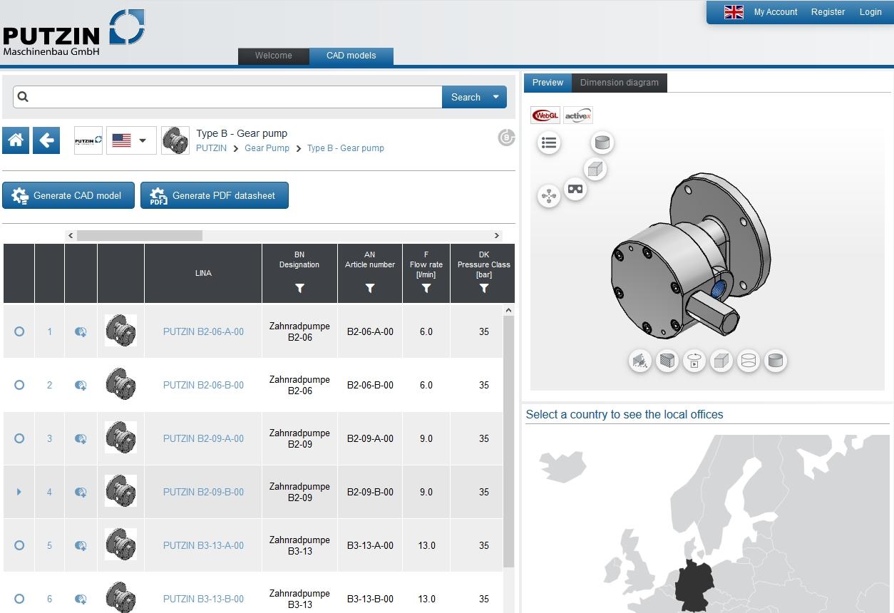 PUTZIN Maschinenbau GmbH - PARTcommunity Portal