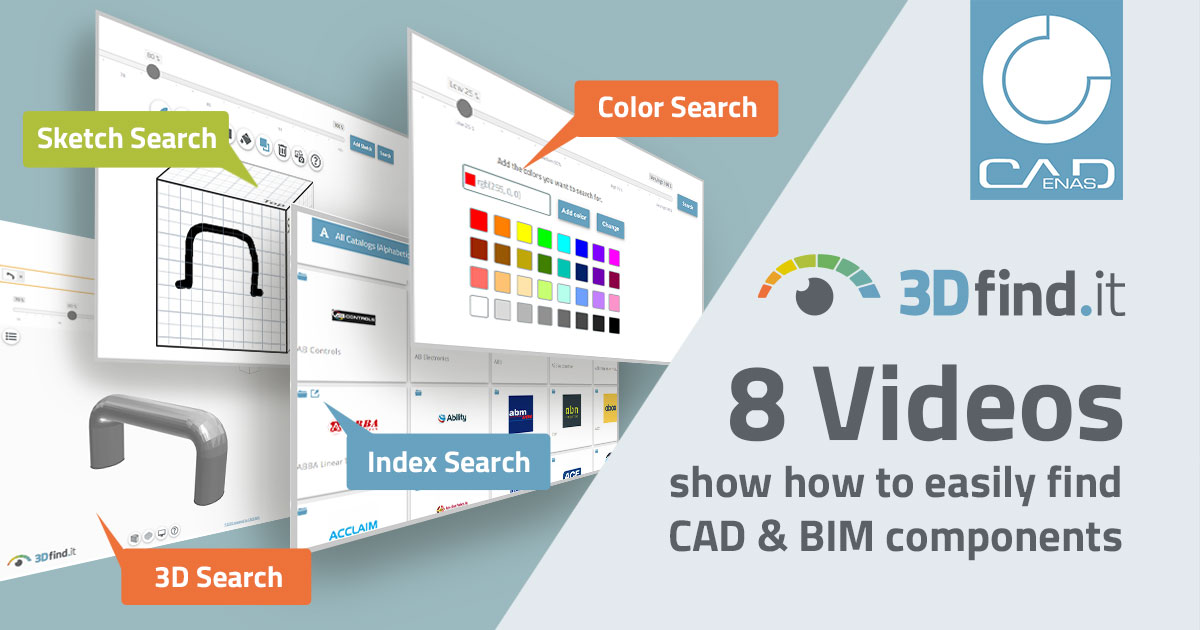 8 videos show how to easily find CAD & BIM components