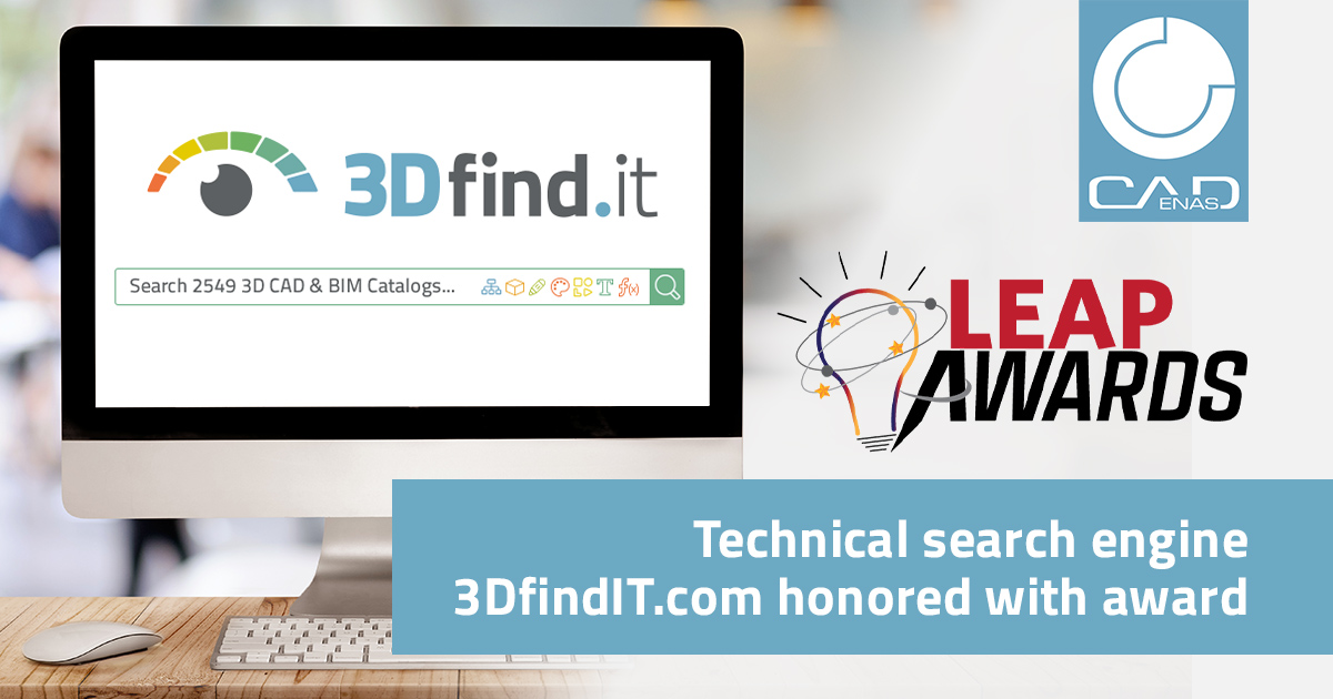 3DfindIT.com: CADENAS search engine honored with 2020 Design World LEAP award