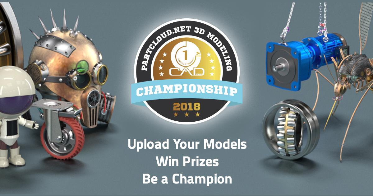 Jetzt noch teilnehmen und PARTcloud.net 3D Modeling World Champion werden