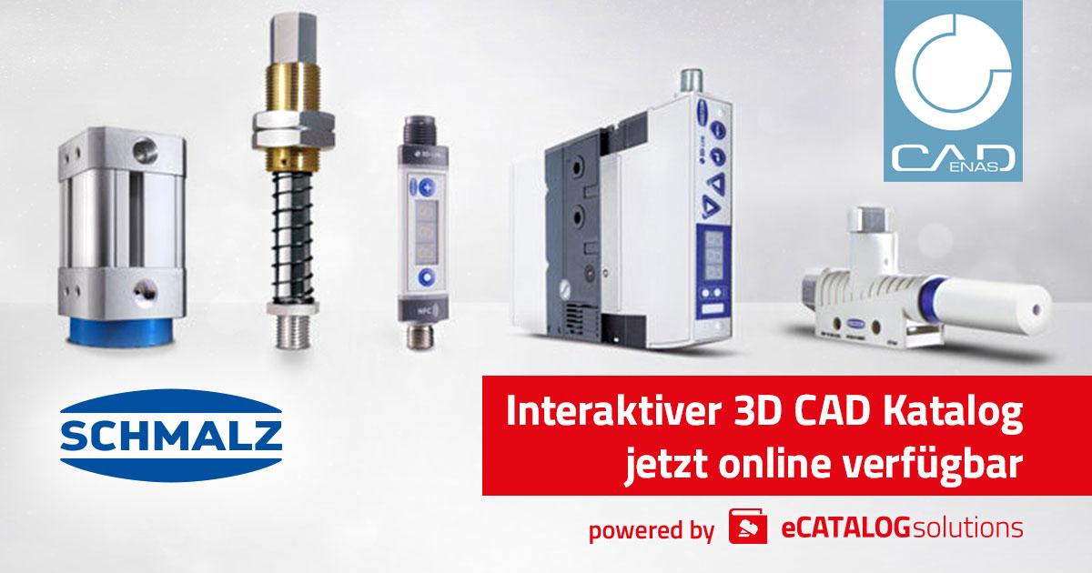 Schmalz veröffentlicht weitere 3D CAD Modelle von Vakuumtechnik für dich Automation