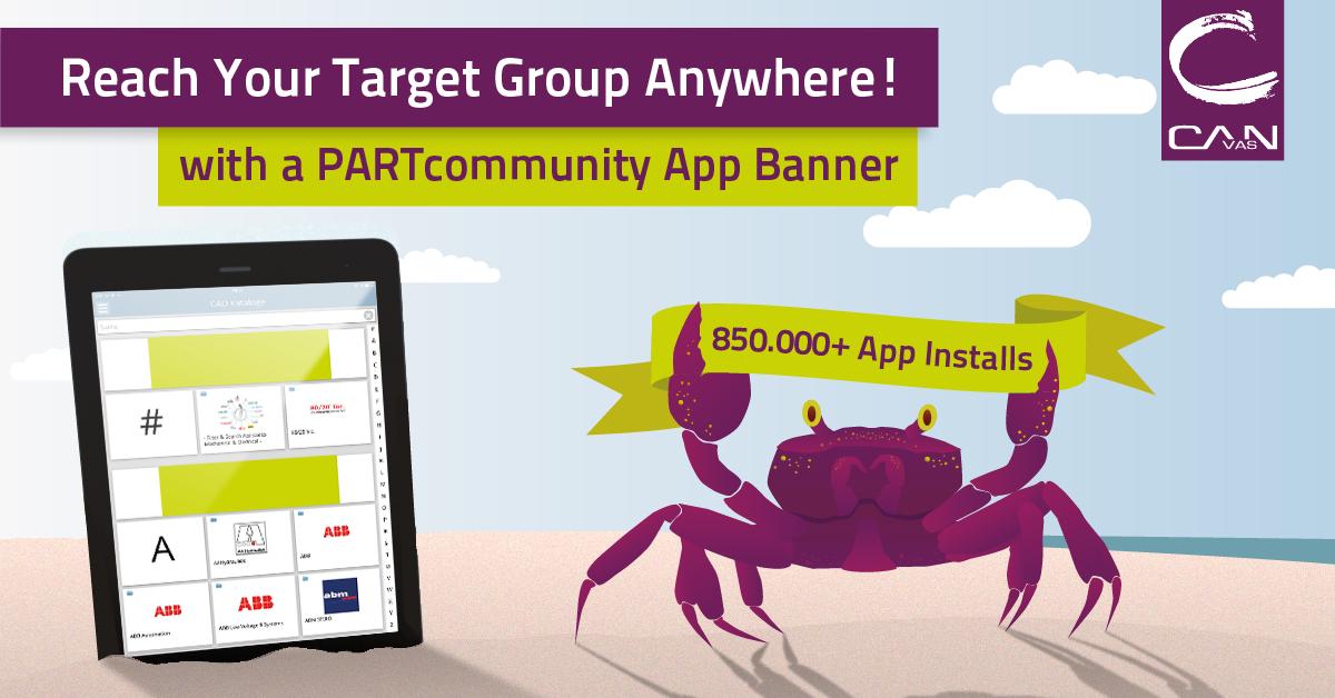 Steigern Sie Ihr Marketing mit einem Banner in der PARTcommunity 3D CAD Models App