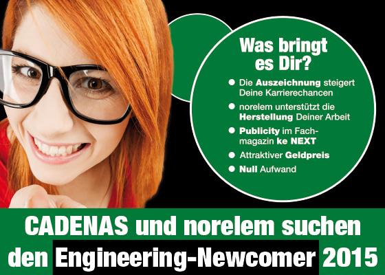 CADENAS und norelem suchen den Engineering-Newcomer 2015