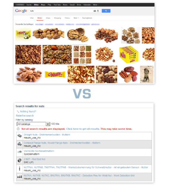 Search for Nuts on Google Image Search and PARTcommunity