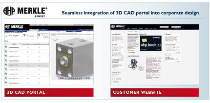 Seamless integration of the 3D CAD Portal into AHP Merkle´s corporate design