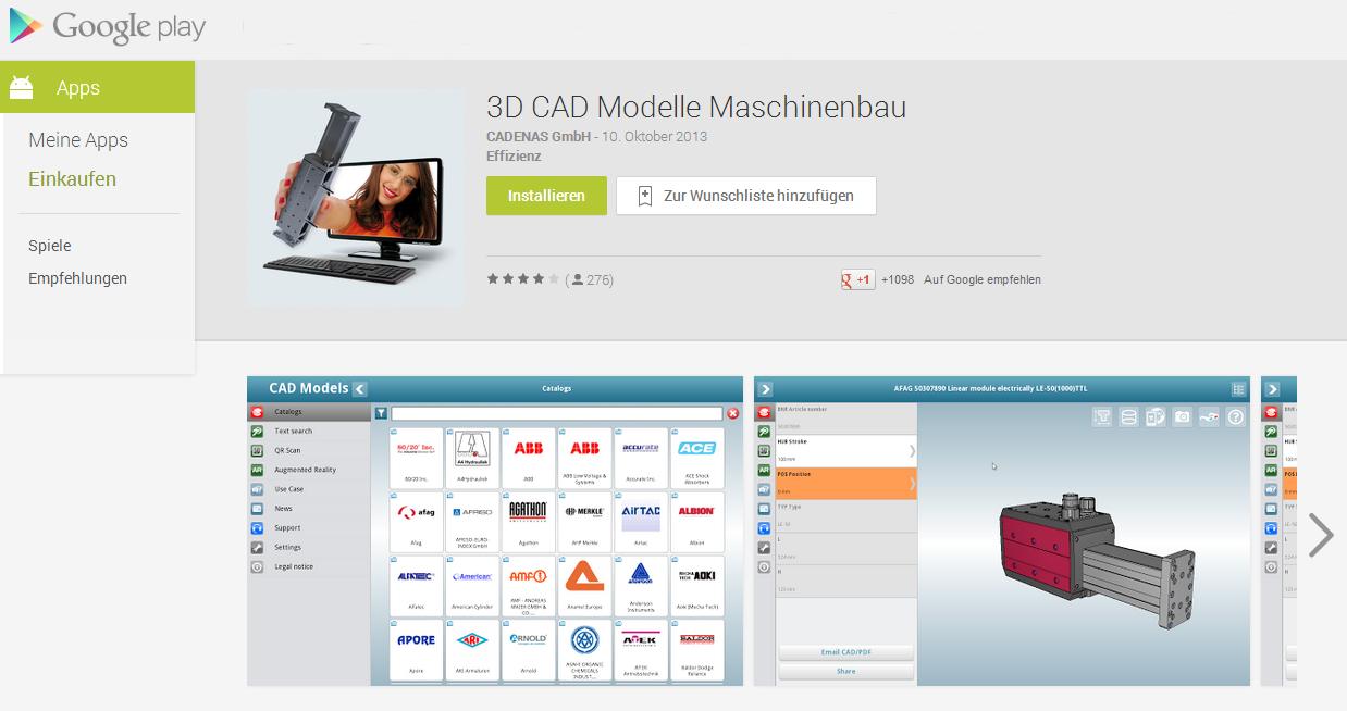 3D CAD Modelle App von CADENAS in der neuesten Version 2.2.4