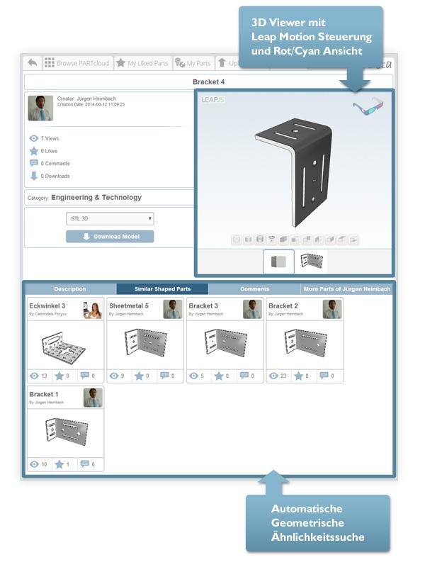 Erfolgreiches 3D CAD Downloadportal wird um neue 3D Printing und 3D Model Sharing Funktion PARTcloud erweitert