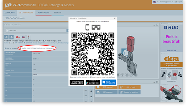 QR codes can be stored for each individual part by component manufacturers.
