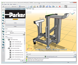 Parkers neuer Interaktiven Produktkonfigurator, basierend auf der eCATALOGsolutions Technologie