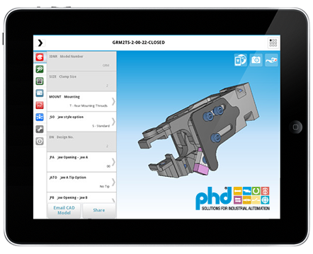 PHD 3D CAD Model App von CADENAS