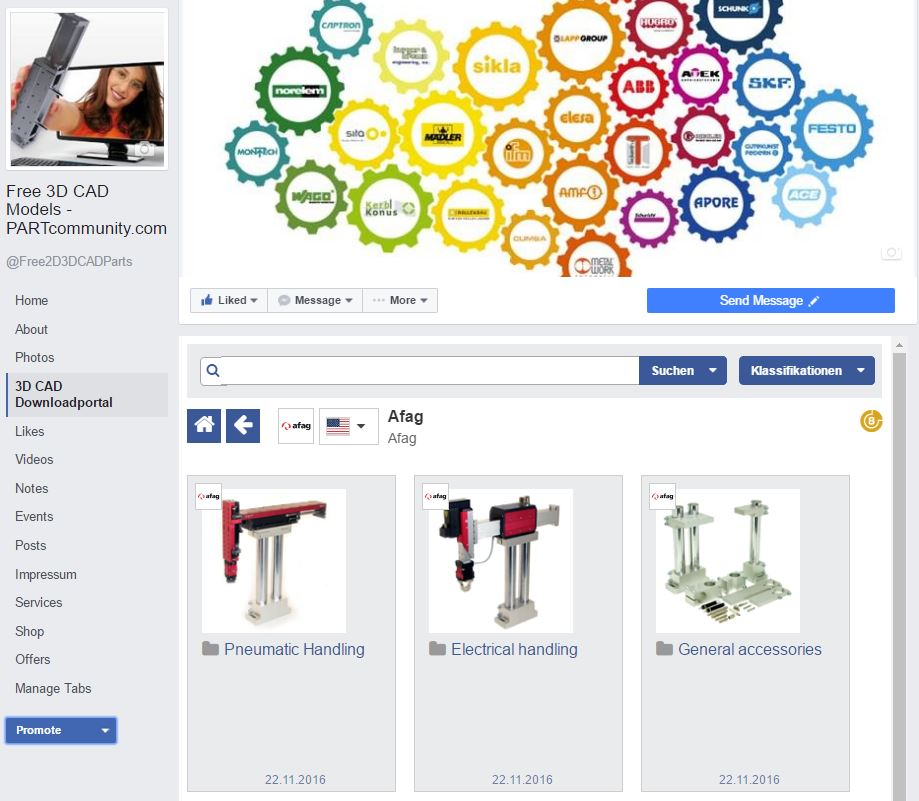 Over 25 000 facebook fans popularity of partcommunity Cad models