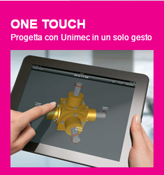 L'app ONE TOUCH di UNIMEC
